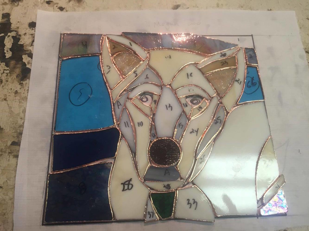 Custom Stained Glass Window.Pet Portrait 1.process 2.jpg