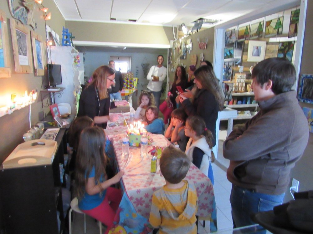 Glass Mosaic Birthday Party!