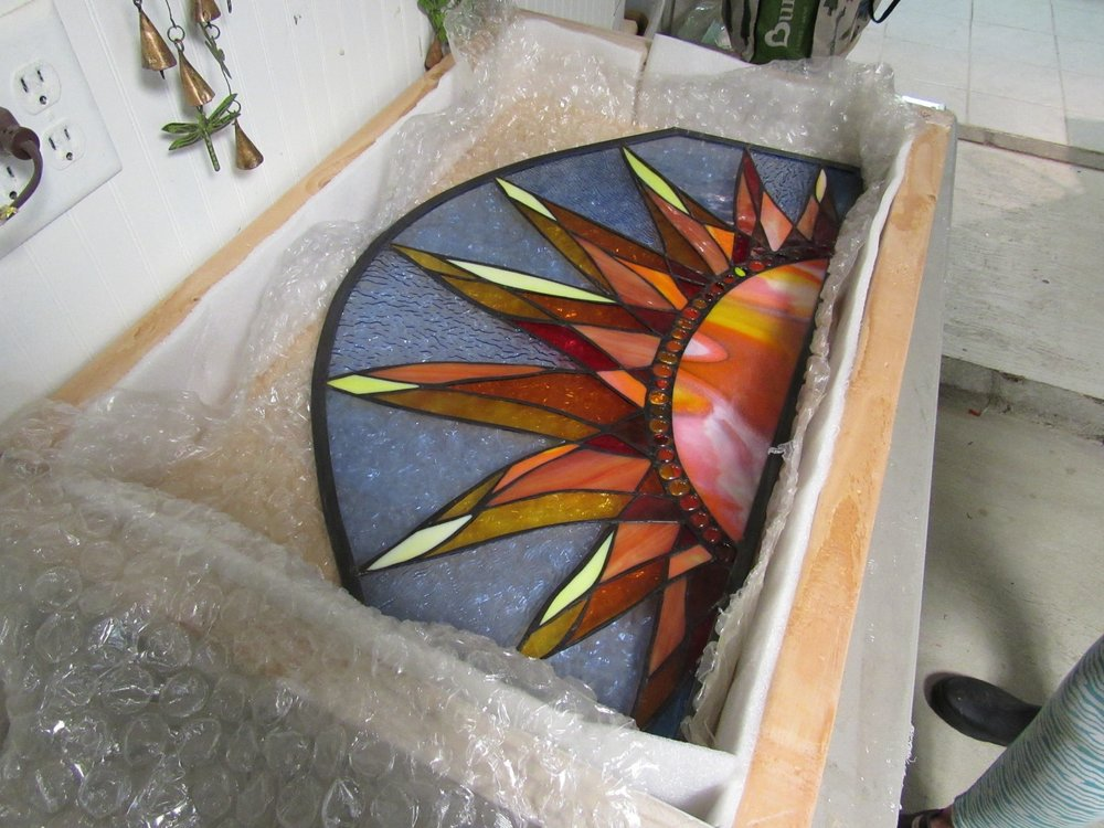 Packing Stained Glass...