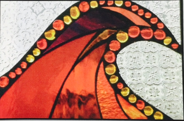 "Winter Sol Stained Glass Window Collection. Design for January 12: ""Internal Heat""."
