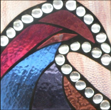"Winter Sol Stained Glass Window Collection. Design for January 14: ""Surf Royale""."
