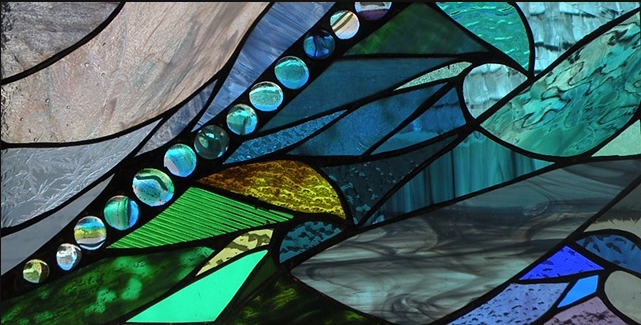 "Winter Sol Stained Glass Window Collection. Design for January 21: ""3 Souls""."