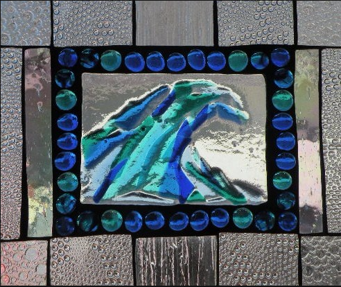 "Winter Sol Stained Glass Window Collection. Design for January 25: ""Glass Devine""."
