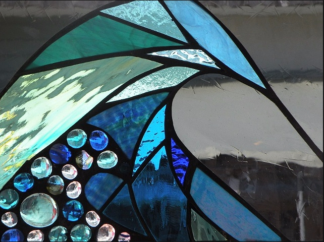 Stained Glass Collection.Winter Sol-2.7-Azul Roca