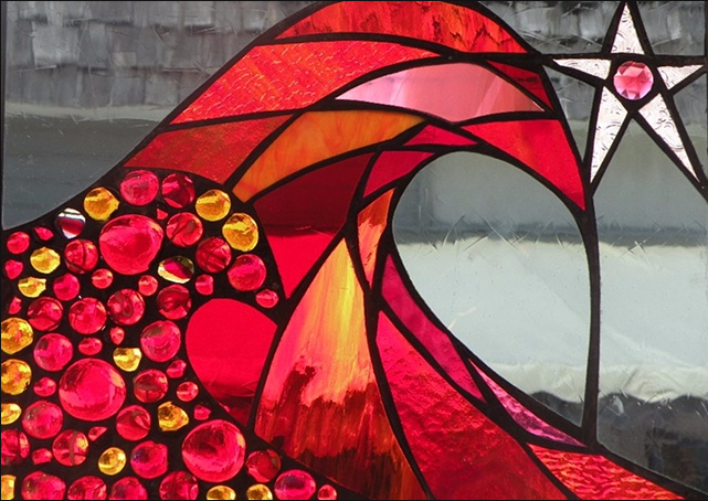 Stained Glass Collection.Winter Sol-2.9-Rojo Estrella