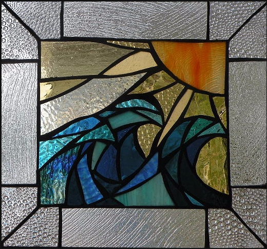 "Primavera Stained Glass Collection. April 4th: ""Trio at Dawn"""