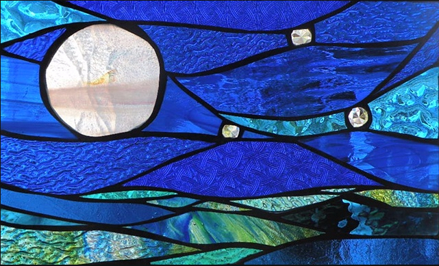 "Primavera Stained Glass Collection by Mary Tantillo. April 6th: ""Full Moon Delight"""