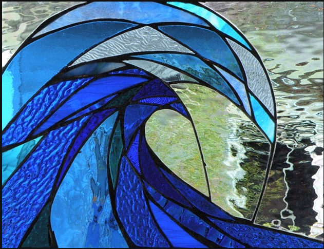 Primavera Stained Glass Collection. April 13. Liquid Swell