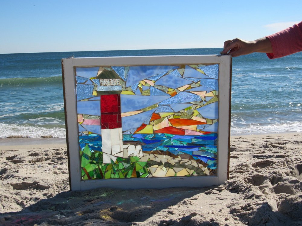 Mosaic on Glass Window-Old Barney Lighthouse 6.jpg
