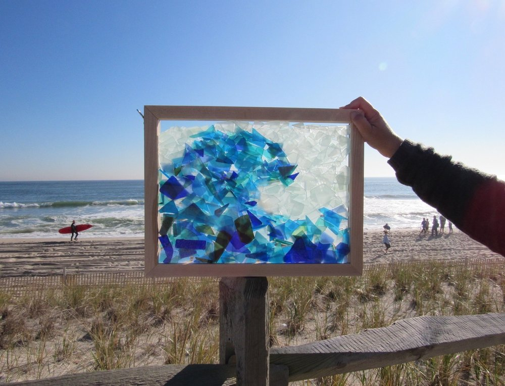 Try a Sea Glass Inspired Seascape for Mother's Day! Each is made with a custom milled white maple frame, filled with LBI sea and sand tumbled glass.