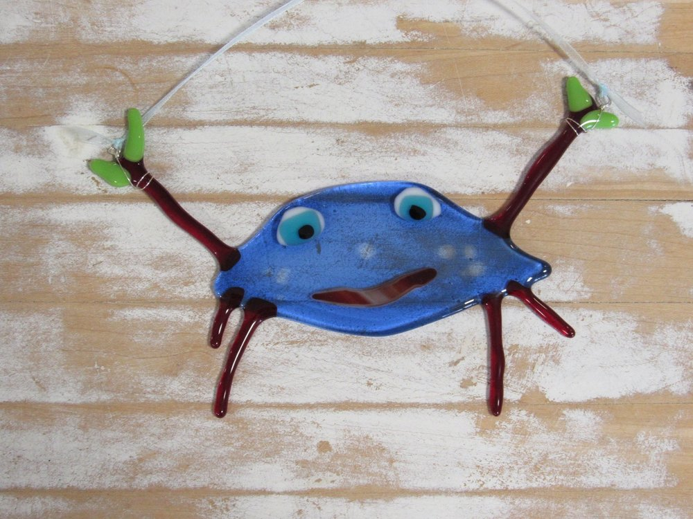Maybe your Mom has her crabby moments...but don't we all? :-) Check out these fantastic fused glass ornaments!