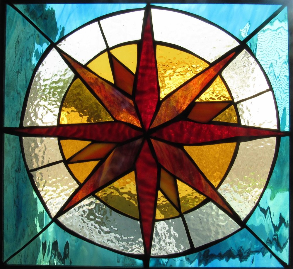 "From the Origin Stained Glass Collection: April 13, ""Guide- Sol"", 2016."