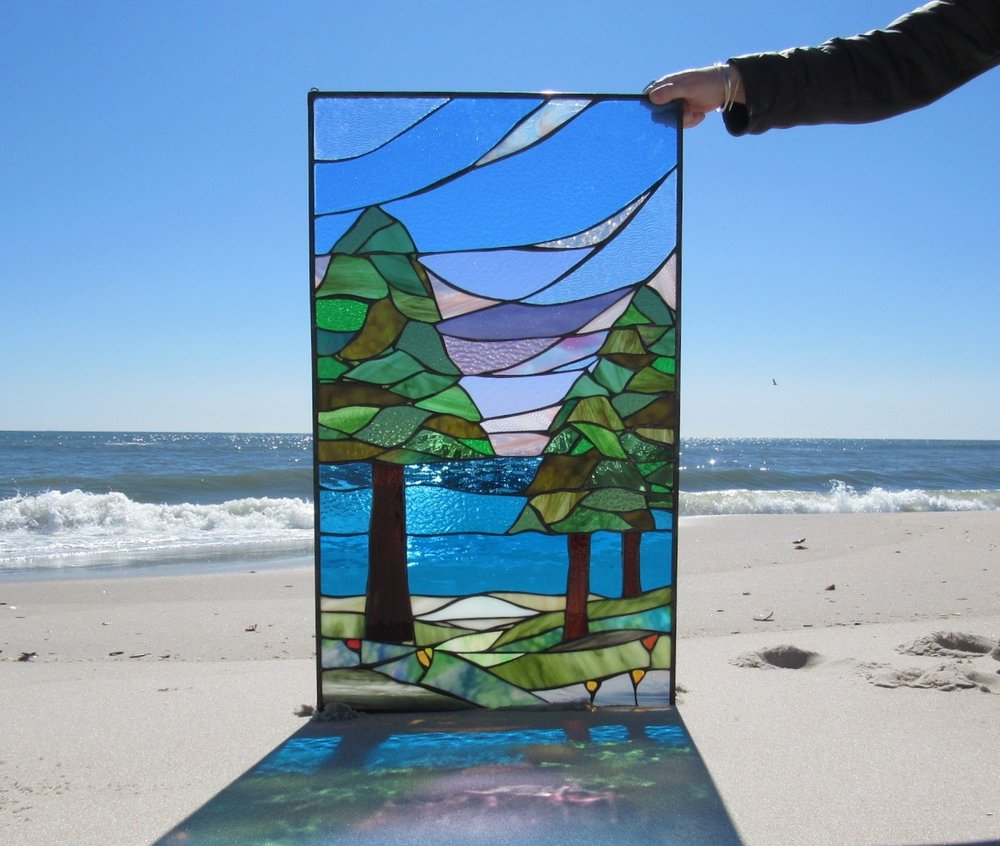 Custom Trees Stained Glass