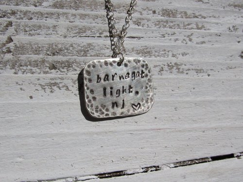 Metal Stamping - Make a sterling silver necklace with your own custom message!