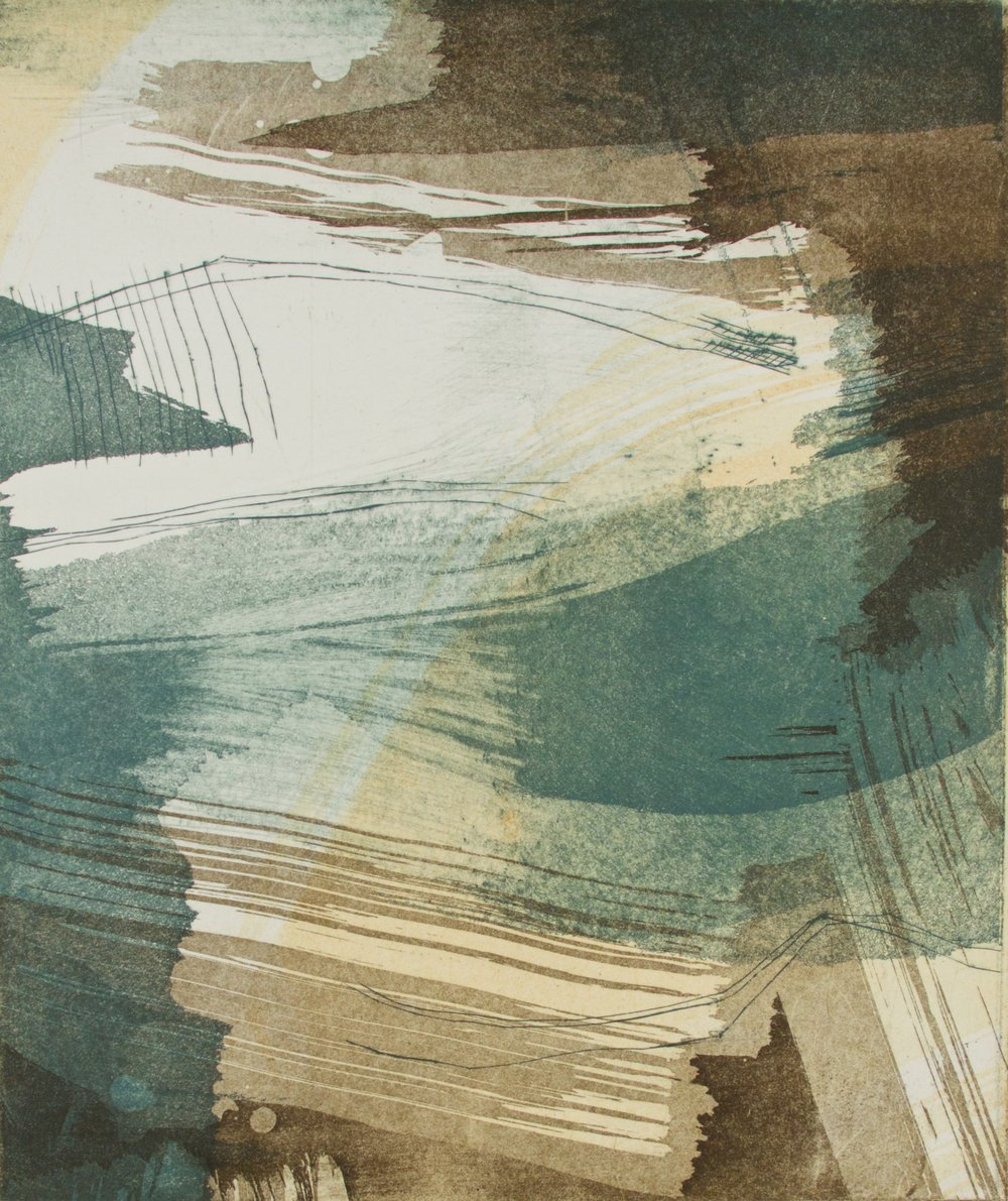 Days and Nights in Spain XXVI, 2017, Intaglio Monoprint, 12 x 10 in