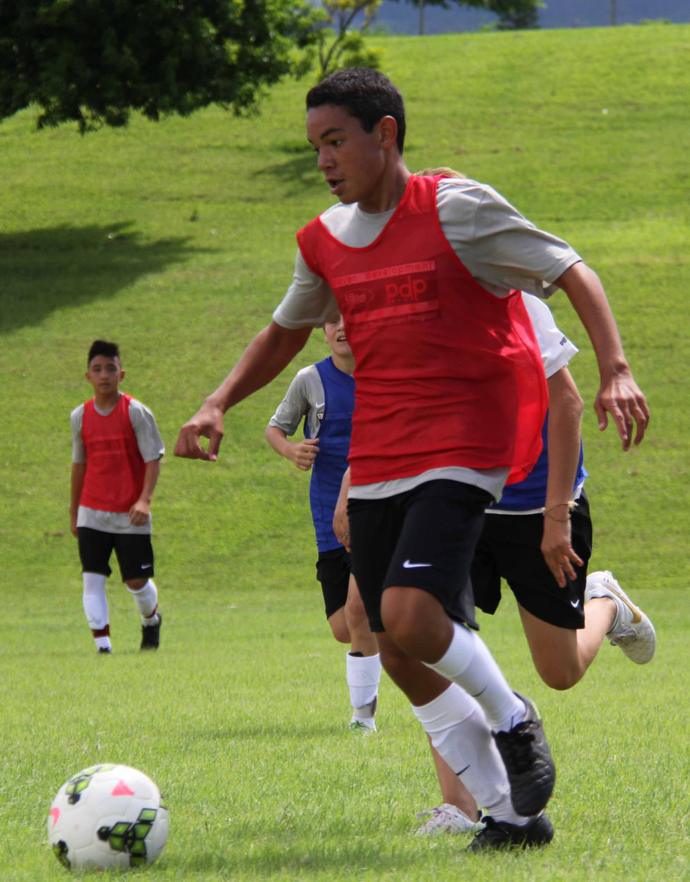 Buddy's son, Kahakuwaipolani Tolentino-Perry, competing in the innaugural US Club Soccer pdp — hosted by HSF.