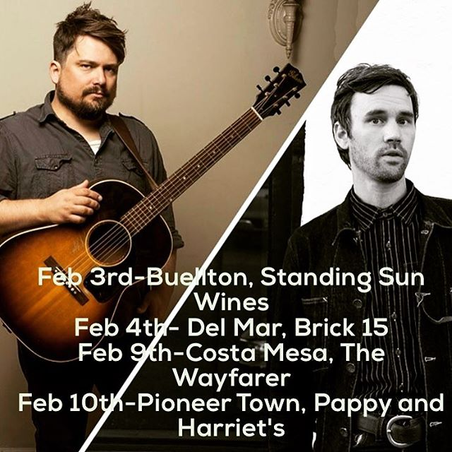 My good pal @williewatsongs and I are doing 4 SoCal co-bill shows starting tomorrow in Buellton. Come on out and we'll do our best to help us all escape reality for a couple hours.