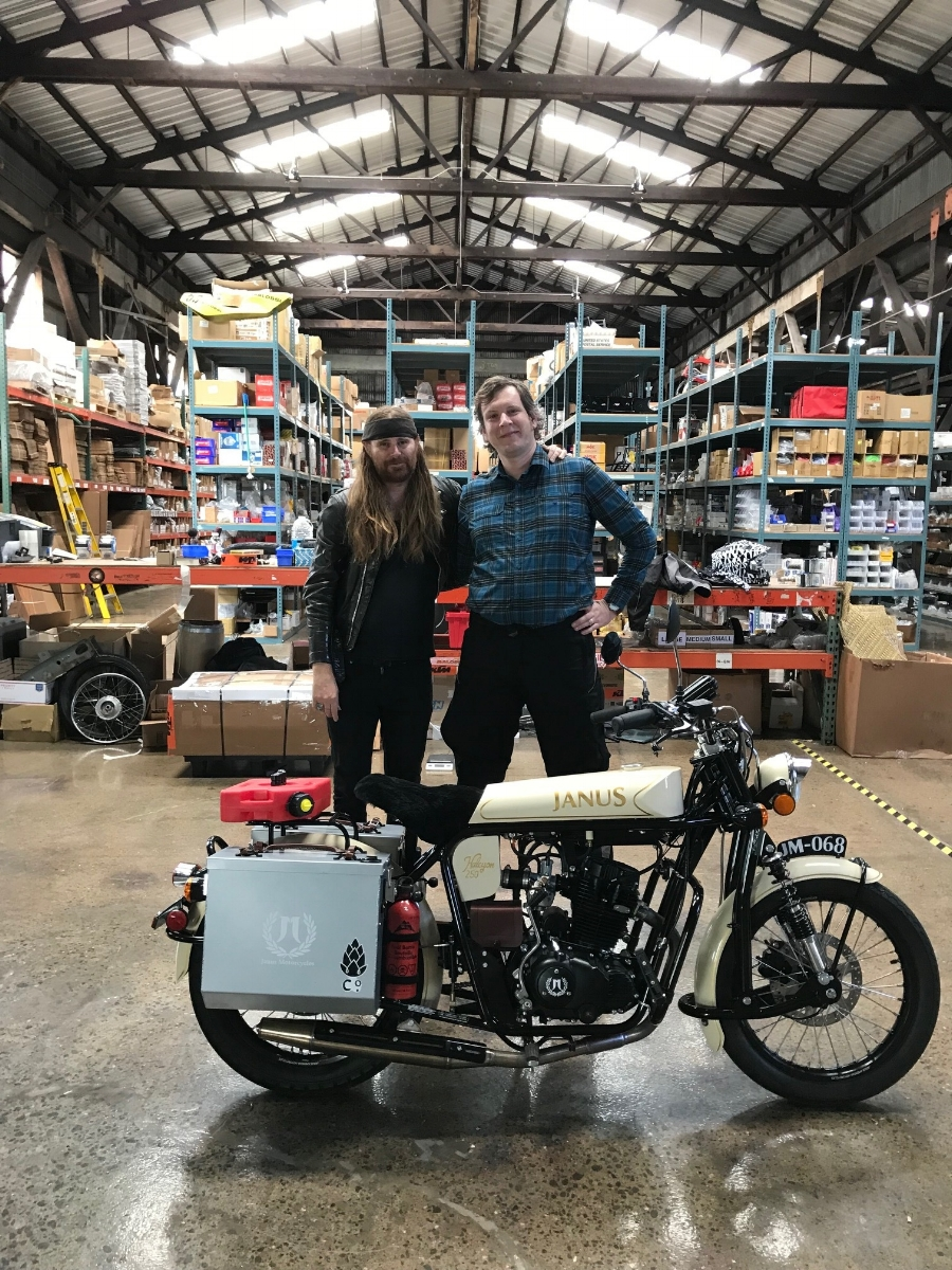 With Benji in the heart of the Independent Republic of Treatland, the world's largest distributor of vintage moped parts.