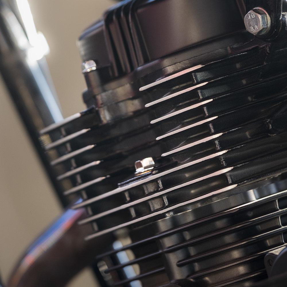 Polished Engine Fins