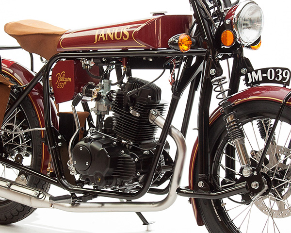 Featherbed Frame - The Featherbed frame is one of the most decorated and revolutionary designs in motorcycling history. The simple double-cradle design has been put through its paces on nearly every race course in the world, as well as on millions of consumer machines through the 20th century. It provides incredible stability and ability for our small displacement designs, while allowing easy access to all components and maintaining a low weight.