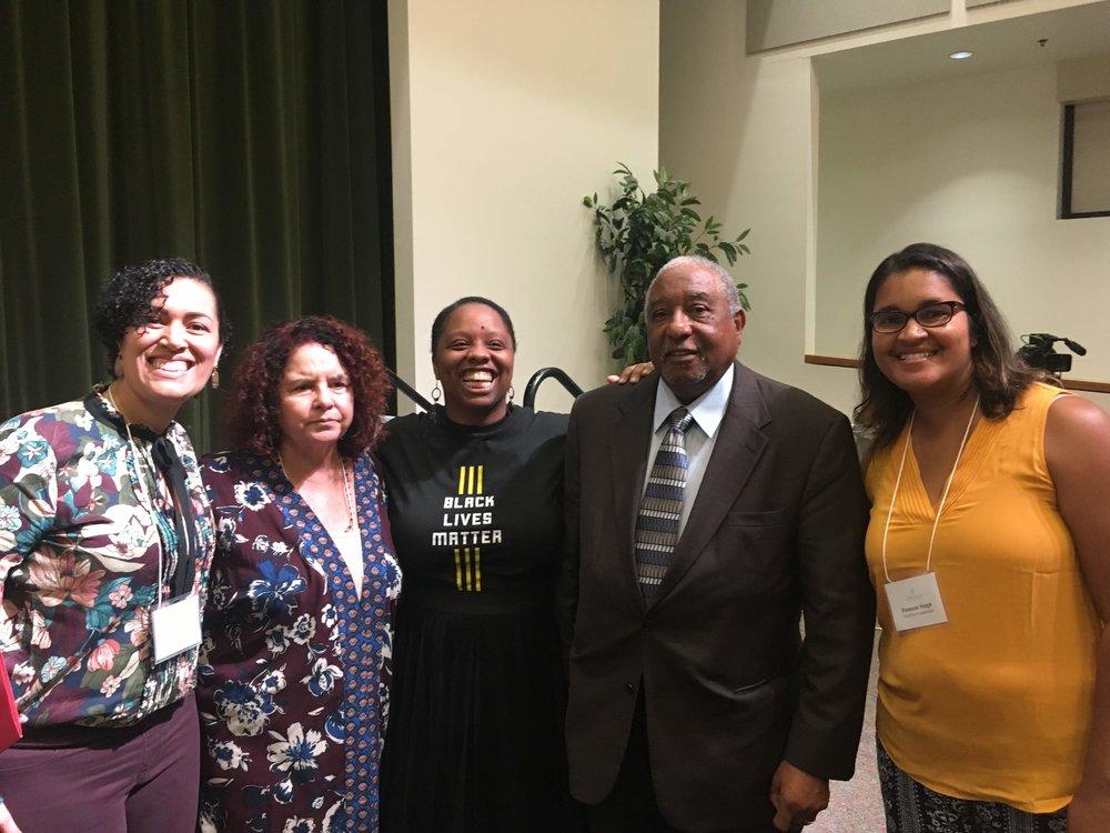 At the Ahimsa Conference 2018 with Bernard Lafayette & Black Lives Matter Organizer Patrisse Cullors.