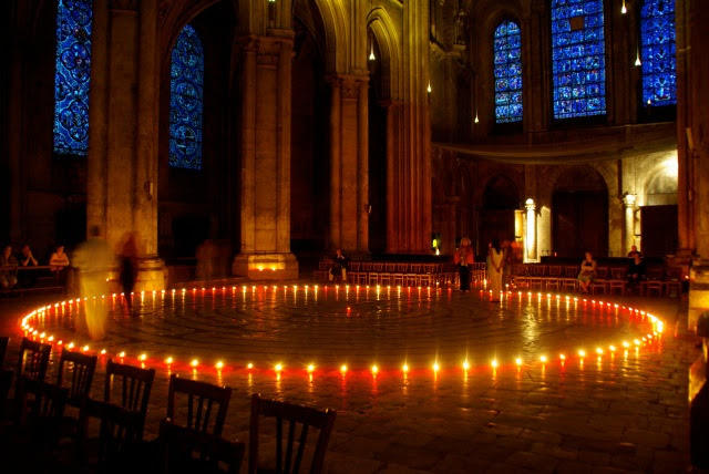 (Chartres Cathedral – labyrinth; photo by Rick Buckley; December 2015)