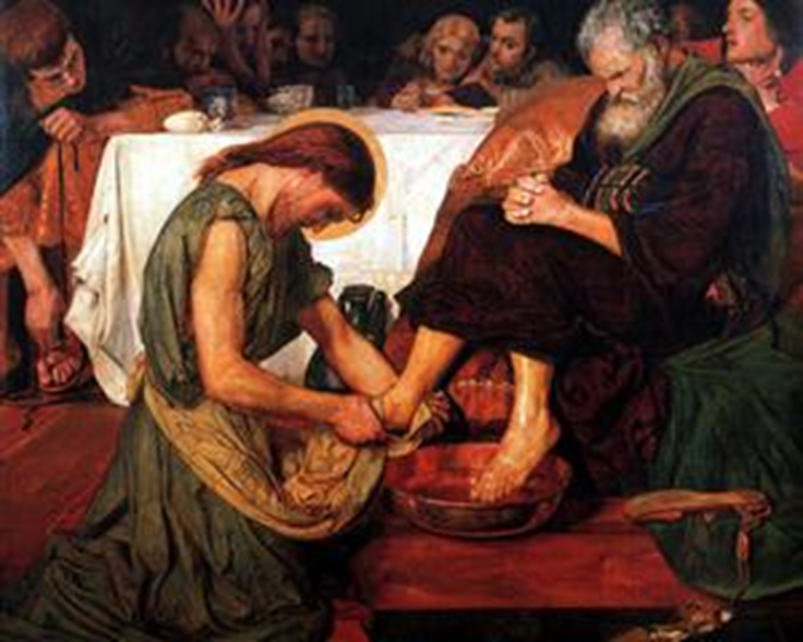 Jesus Washing Peter's Feet – Ford Madox Brown, 1876
