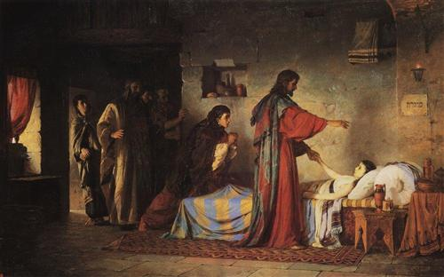 Resurrection of Jairus daughter      Artist:       Vasily Polenov
