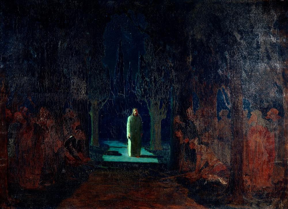 Arkhip Ivanovich Kuindzhi    (Nicholas Roerich's teacher/art)    Christ-in-the-Garden-of-Gethsemane-1901