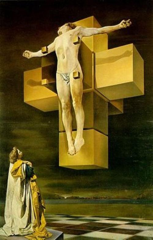 Salvador Dalí   Corpus Hypercubus, 1954