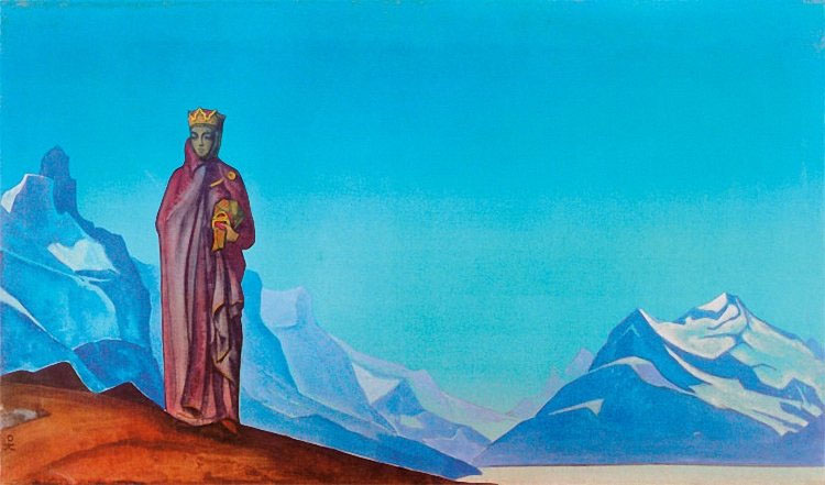 SHE WHO HOLDS THE WORLD (Nicholas Roerich)
