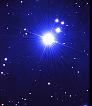 Alcyone - brightest central star of the Pleiades, the Hub of the Wheel around which our universe of fixed stars revolve.