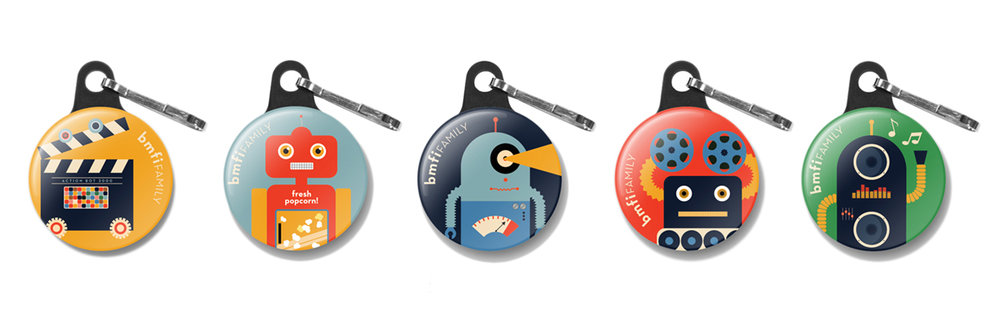 Collectible zipper pulls for kids attending Saturday Matinees