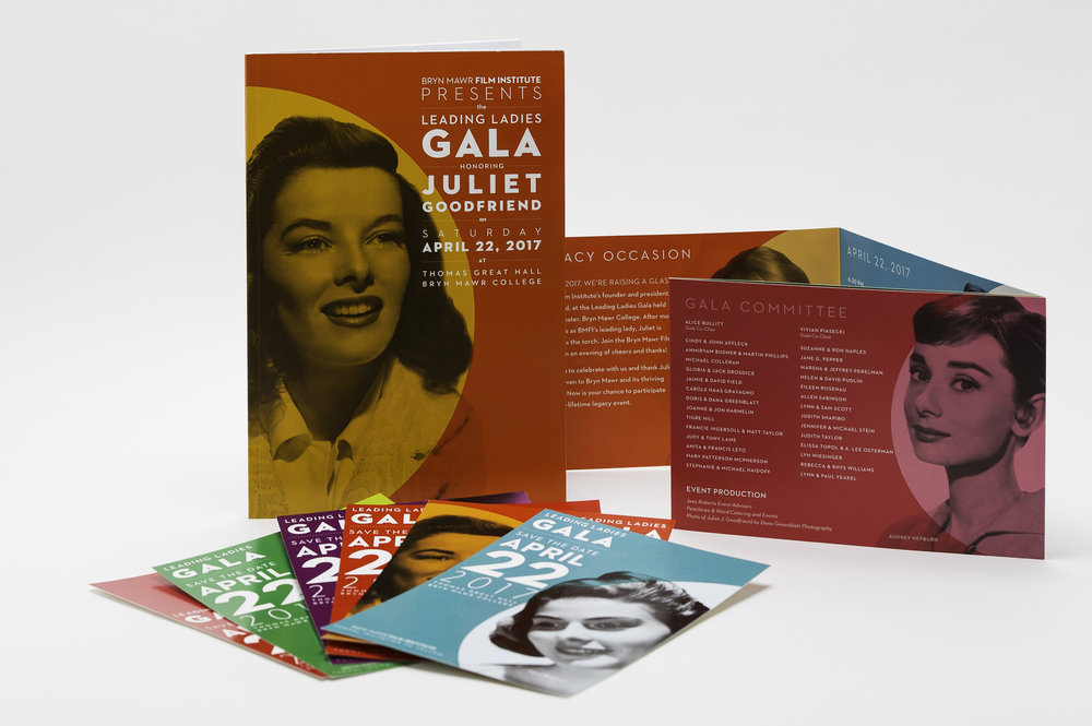 Leading Ladies Gala Commemorative Book, Save the Dates, and Invitations. Photo: Michael Albany