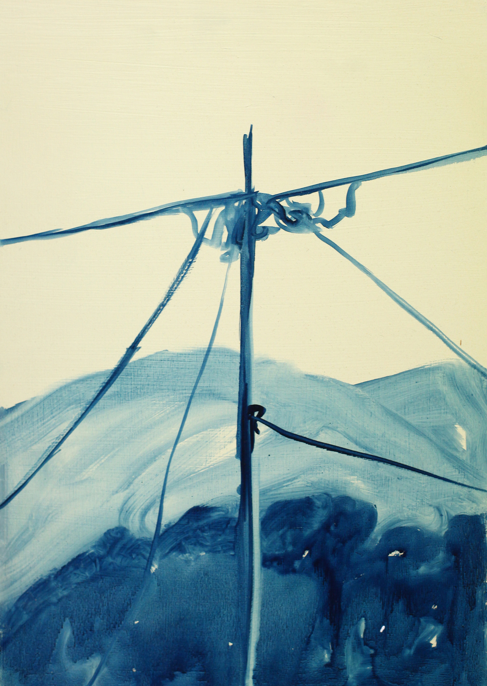 'View from the restaurant', 2012, oil and linseed oil on ply, 30 x 40 cm