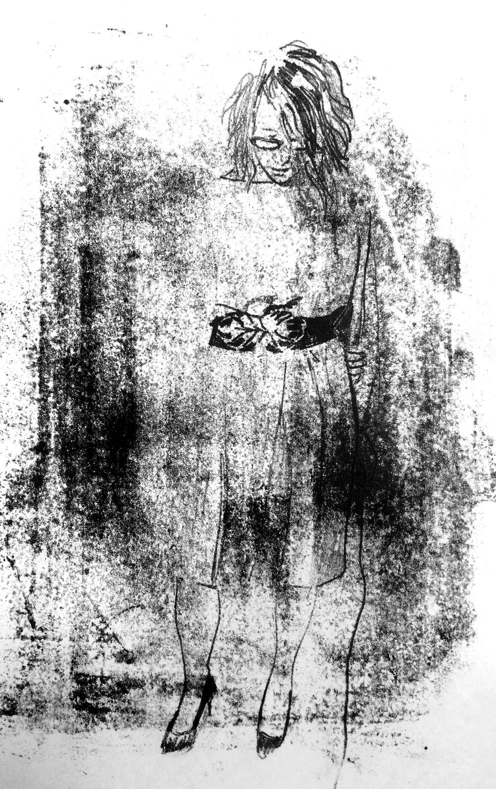 'Fraubraun', 2015, monoprint on plain paper, 21 x 29.5 cm