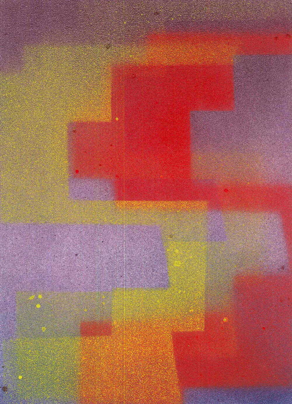 'S1', 2015, spray paint on cartridge paper, 15 x 21 cm