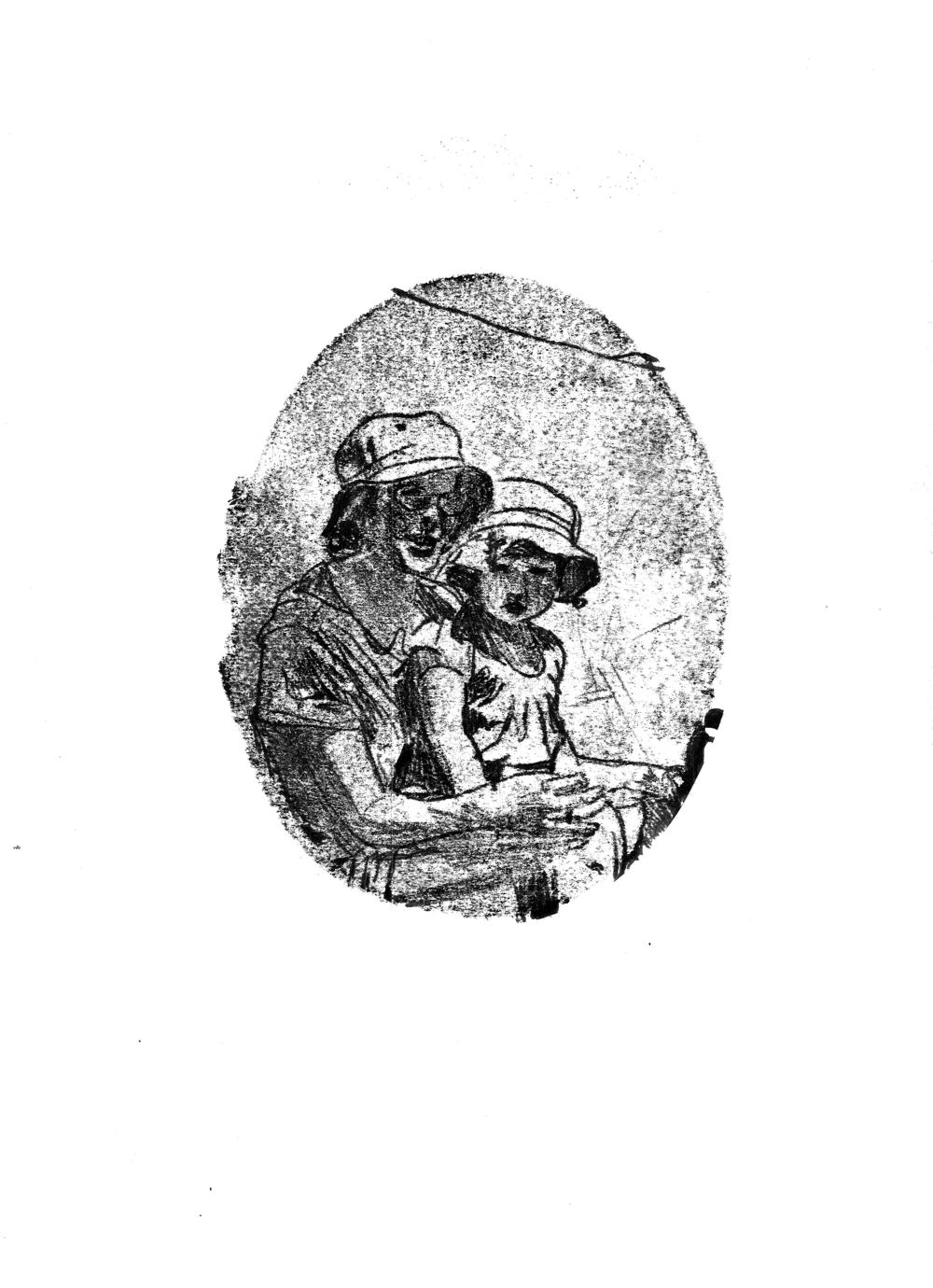 'In der Schweitz', 2015, monoprint on 183gsm cartridge paper, 21 x 29.5 cm