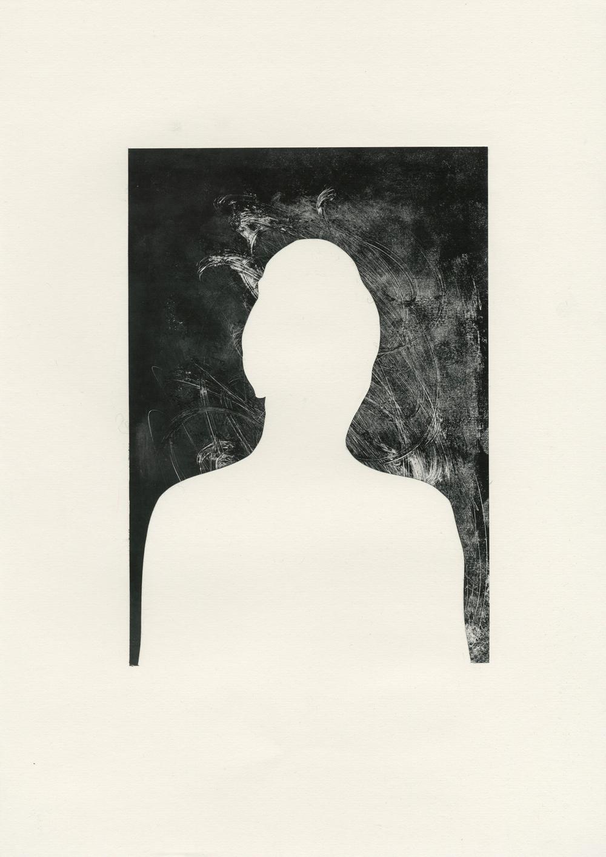 Adam and Eve Series, 2012/13, monoprint on off-white cartridge paper, 29.5 x 42 cm