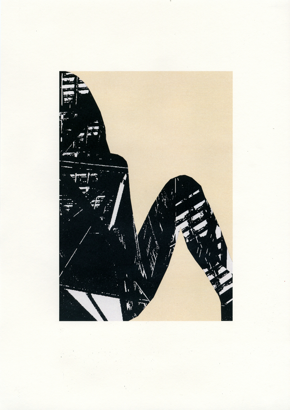Adam and Eve Series, 2012/13, digital collage using monoprints printed on off-white cartridge paper, 29.5 x 42 cm