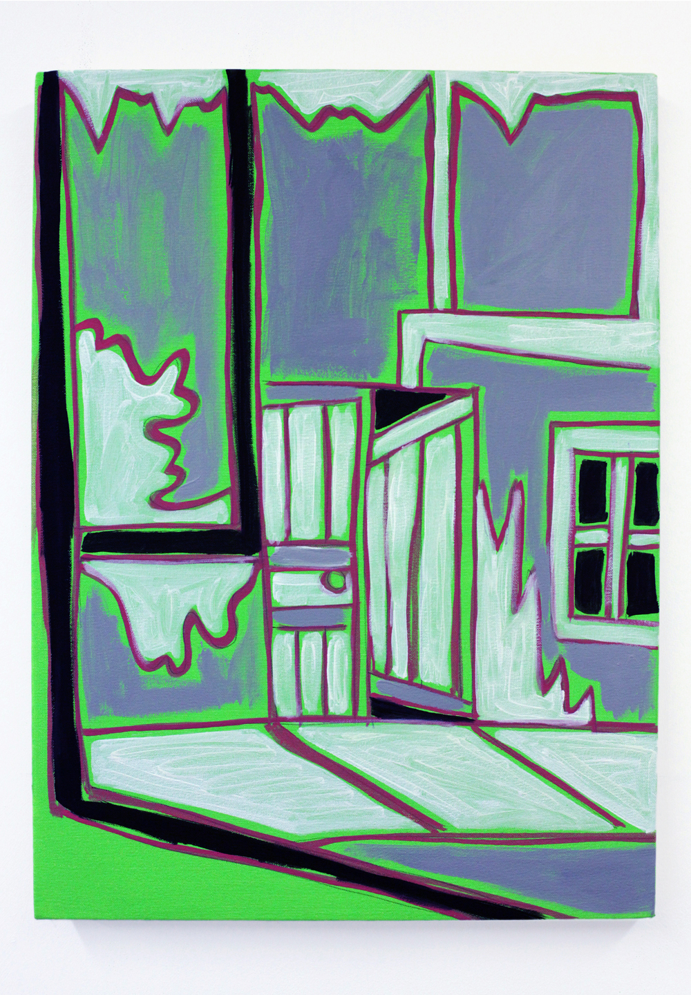 'The door to Giacometti's studio', 2015, oil on canvas, 30 x 40 cm
