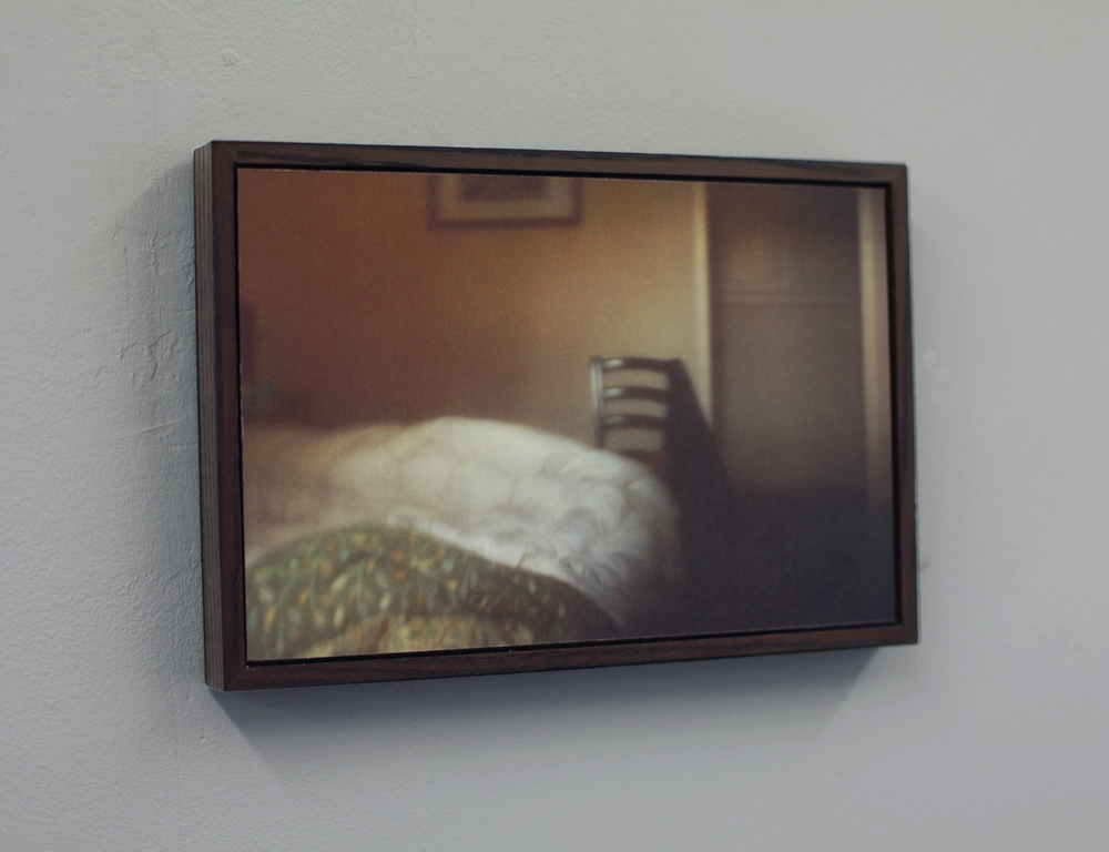 Installation shot: 'Lucca', 2011/15, Pinhole photograph, laser-print on 180gsm cartridge paper mounted on to aluminium, 12 x 18 cm