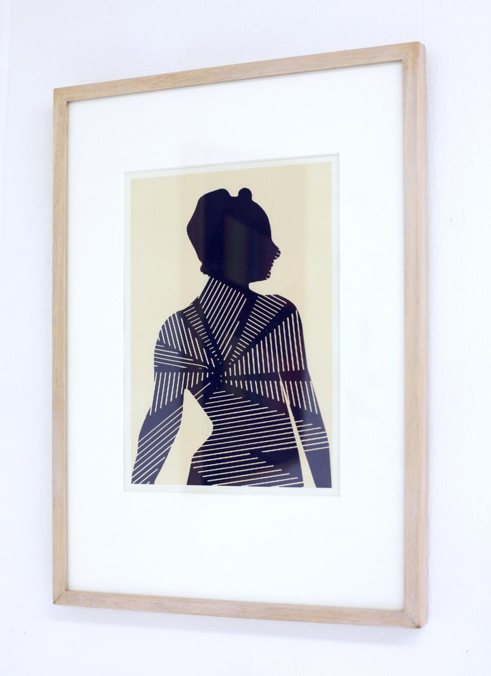'Madame X (after Singer Sargeant)', 2012/13, digital print on off-white cartdridge paper, 29.5 x 42cm