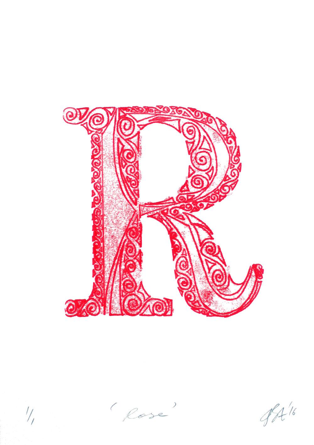 Monoprint on paper, 42 x 29.5 cm
