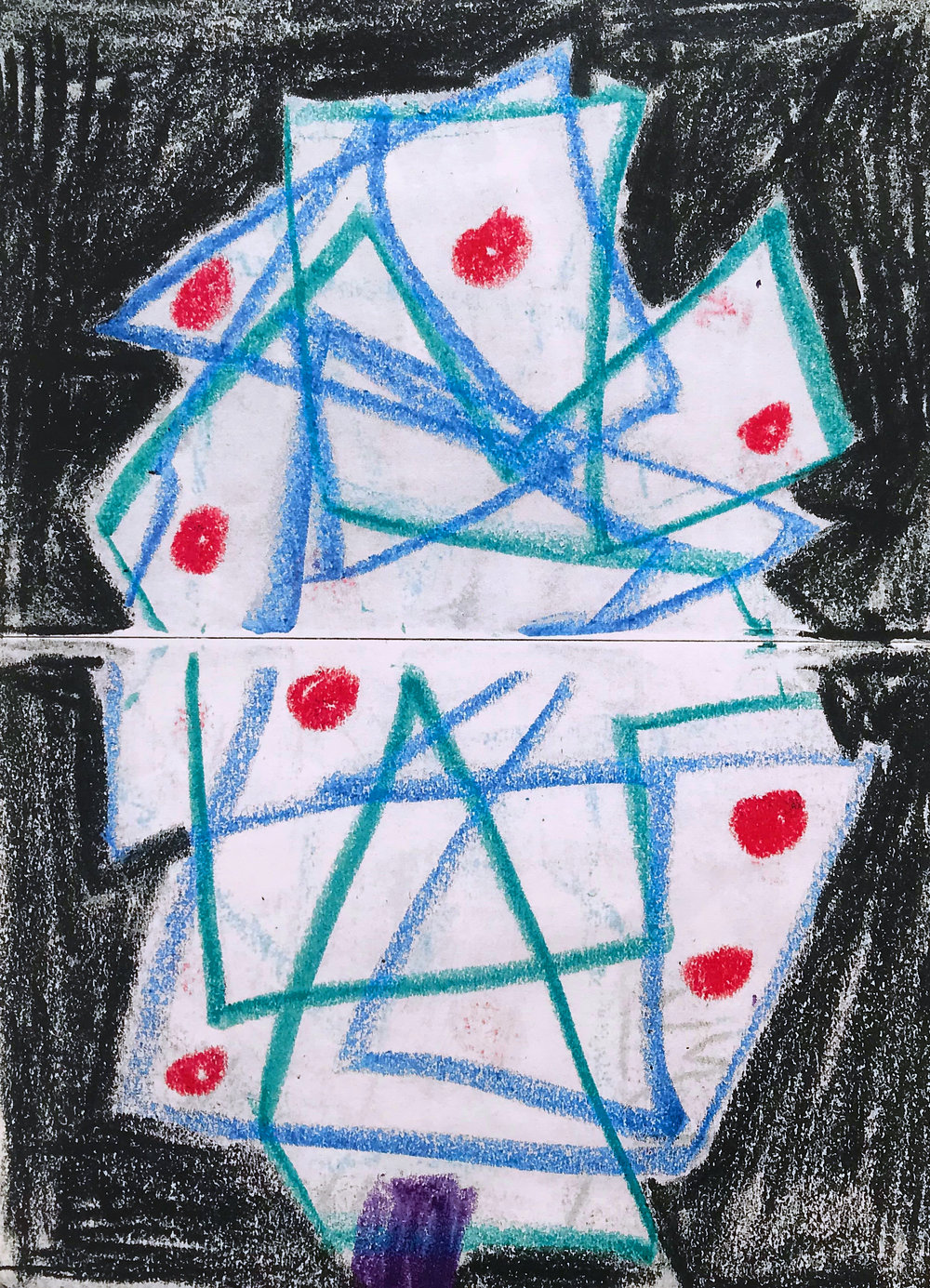 Christmas Tree, 2018, crayon, 10 x 15 cm