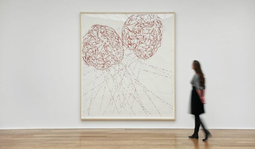 """Άποψη έργου της έκθεσης """"Butterfly Doubt"""" της Roni Horn στην γκαλερί Hauser & Wirth"""