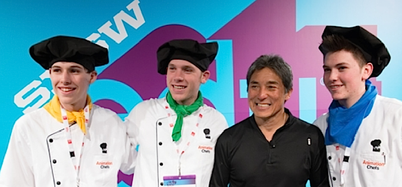 Three of the Animation Chefs with Guy Kawasaki after running a Hands-On workshop @ SXSWEdu