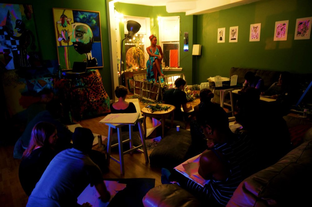 Community life drawing at SPACE lab. © 2016 S.L. Arts