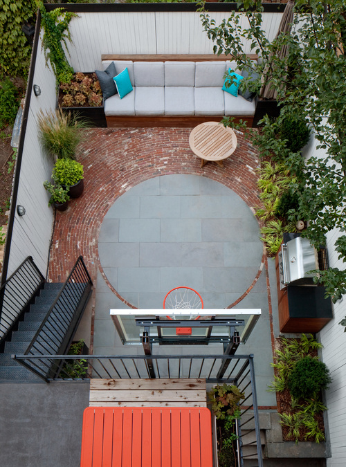 Basketball in clinton hill · brooklyn heights landscape design