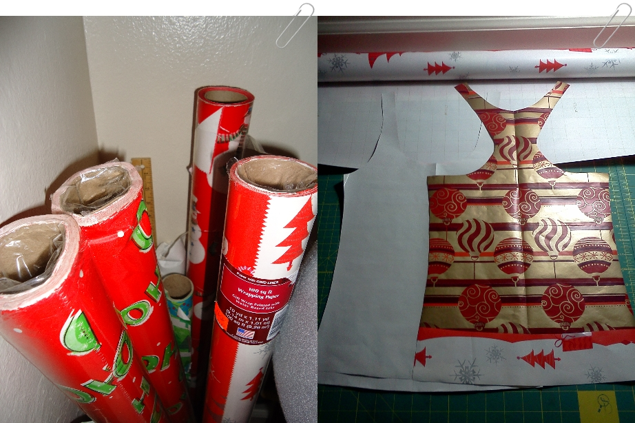 Christmas paper patterndrafting